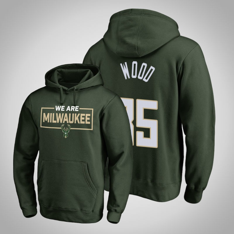 felpa Milwaukee bucks 2018-19 christian Wood Iconic verde uomo